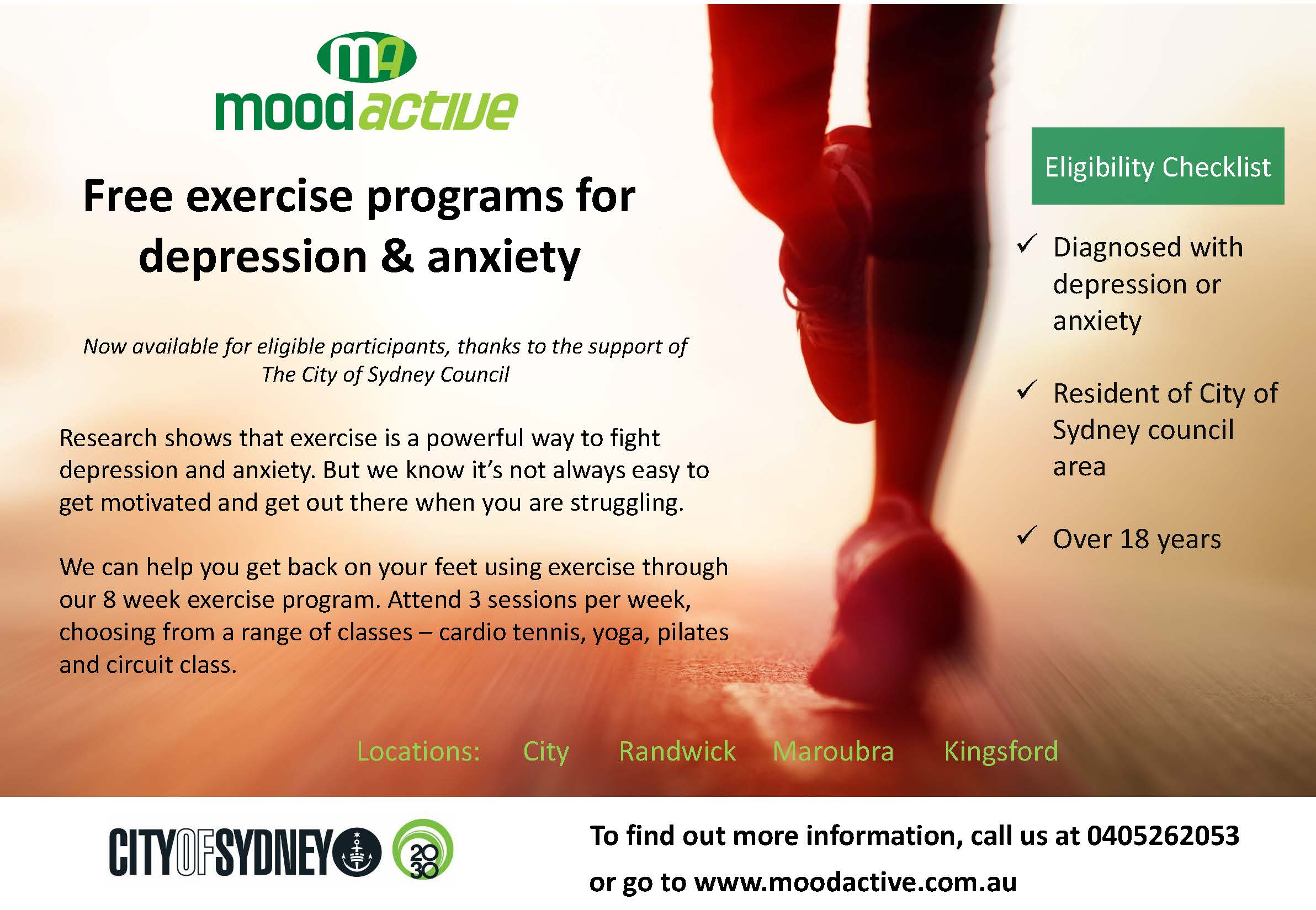 Mood Active The City of Sydney Funded Places