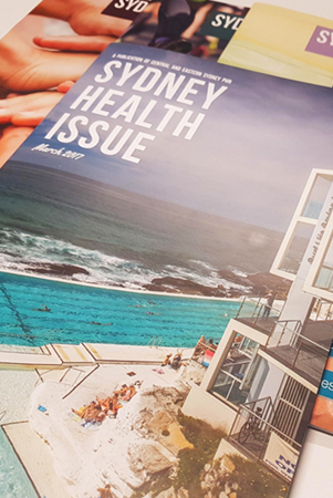 sydney health issue magazine cover